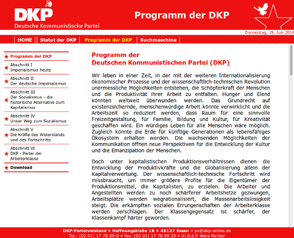Website der DKP