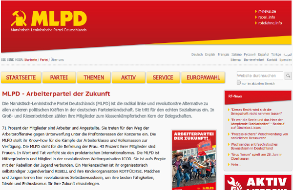 Website der MLPD