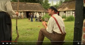 Bild 2: Screenshot aus dem Film über Living History im dänischen Frelichtmuseum in Lyngby Quelle: https://www.youtube.com/watch?v=1l8POyTlxMo